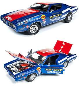 Auto World - Dodge  - AW224 : 1971 Rod Shop Dodge Charger Dave Boertman, blue/red/white