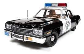 Dodge  - 1975 black/white - 1:18 - Auto World - AWSS112 | Tom's Modelauto's