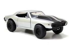 Chevrolet  - 1967 silver with black stripes - 1:24 - Jada Toys - 97166 - jada97166 | Tom's Modelauto's