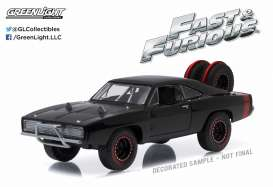Dodge  - Charger R/T Off Road F&F 1970 black - 1:43 - GreenLight - 86232 - gl86232 | Tom's Modelauto's