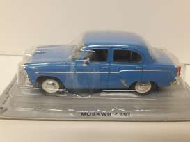 Moskwitch  - 1958 blue - 1:43 - Magazine Models - magPCmos407b | Tom's Modelauto's
