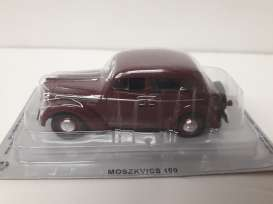 Magazine Models - Moskwitch  - magPCmos400-420A : 1954 Moskwitch 400-420A *Polish cars* burgundy