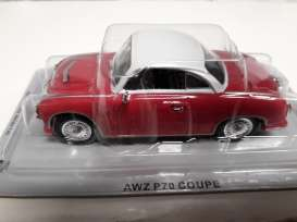 AWZ  - P70 coupe red/white - 1:43 - Magazine Models - pcAWZp70 - magpcAWZp70 | Tom's Modelauto's