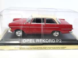 Magazine Models - Opel  - maglcOrekordP2 : Opel Rekord P2 *Legendary cars* red/white