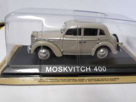 Moskvitch  - beige - 1:43 - Magazine Models - lcMos400 - maglcMos400 | Toms Modelautos