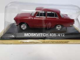Moskwitch  - red - 1:43 - Magazine Models - lcMos408-412 - maglcMos408-412 | Tom's Modelauto's