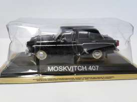 Moskwitch  - 407 black - 1:43 - Magazine Models - lcMos407 - maglcMos407 | Tom's Modelauto's