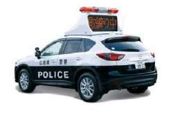 Ixo Premium X - Mazda  - ixPRD486 : 2013 Mazda CX-5 Japanese Police with led roof sign, black/white
