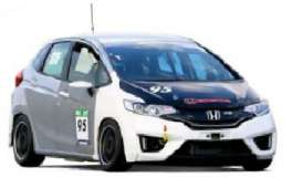 Ixo Premium X - Honda  - ixPRD499 : 2014 Honda Fit 3 Spoon Sport Test car, grey/white/black