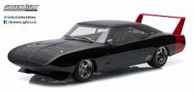 GreenLight - Dodge  - gl19020 : 1969 Dodge Charger Daytona Custom, black with red wing