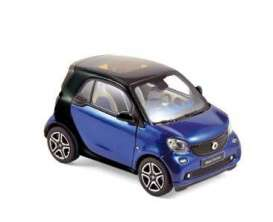 Smart  - 2015 black/blue - 1:43 - Norev - nor351420 | Tom's Modelauto's