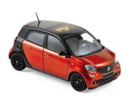 Smart  - 2015 black/red - 1:43 - Norev - 351425 - nor351425 | Tom's Modelauto's