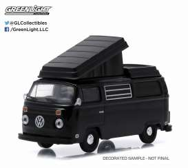 GreenLight - Volkswagen  - gl27790C : 1973 Volkswagen T2 Westfalia Campmobile *Black Bandit Series 13*, black