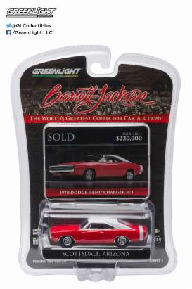 GreenLight - Dodge  - gl27830D : 1970 Dodge Hemi Charger R/T Barret Jackson *Scottsdale* Edition series 1
