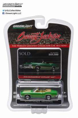 Oldsmobile  - 1970 jade green - 1:64 - GreenLight - 27830E - gl27830E | Tom's Modelauto's