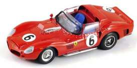 Look Smart - Ferrari  - LSLM023 : 1962 Ferrari 330TRI #6 Winner Le Mans Gendebien/Hill, red