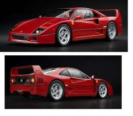 Kyosho - Ferrari  - kyoPHR1802r : 1/18 Ferrari F40 *resin series* (with Metal chassis), red
