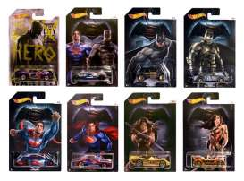 Hotwheels - Assortment/ Mix  - hwmvDJL47~12 : 1/64 Batman versus Superman series. Assortment box of 12 with various great Batman vehicles.
