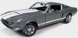 Shelby  - 1969 grey - 1:18 - Auto World - AMM1060 | Tom's Modelauto's