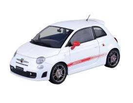 Fiat Abarth - 500 2009 white - 1:24 - Motor Max - 73380w - mmax73380w | Toms Modelautos