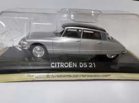 Citroen  - DS 21 silver/black - 1:43 - Magazine Models - lcDS21 - maglcDS21 | Toms Modelautos