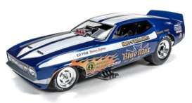 Ford Mustang - blue/white - 1:18 - Auto World - 1171 - AW1171 | Toms Modelautos