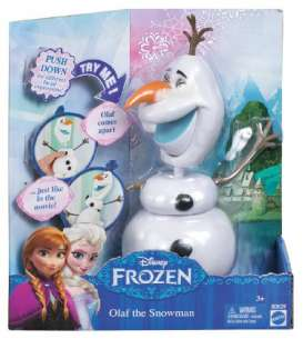 Mattel Disney - Mattel Disney Kids - matCBH61 : Disney *Frozen* Olaf. With pop up Head just like in the Movie.
