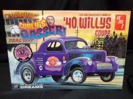 AMT - Willys  - amts939 : Curly's Gasser 1940 Willys Coupe, plastic modelkit