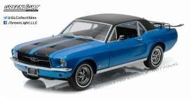 Ford  - 1967 vial blue - 1:18 - GreenLight - 12965 - gl12965 | Tom's Modelauto's