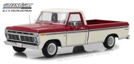 Ford  - F-100 pick-up 1972 Red & White - 1:18 - GreenLight - 12962 - gl12962 | Tom's Modelauto's