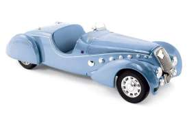 Peugeot  - 1937 blue metallic - 1:18 - Norev - 184821 - nor184821 | Toms Modelautos