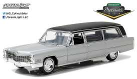 Cadillac  - S&S Limousine 1966 silver/black - 1:18 - GreenLight Precision Collection - GLPC18005 | Tom's Modelauto's
