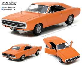 GreenLight - Dodge  - gl19028 : 1970 Dodge Charger *Artisan Collection*, hemi orange