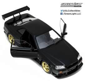 GreenLight - Nissan  - gl19030 : 1999 Nissan Skyline GT-R R34, black