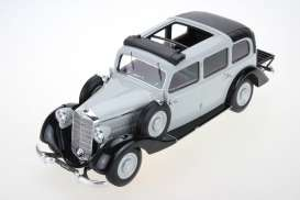 Mercedes Benz  - 1936 grey - 1:18 - Triple9 Resin series - T9R1800105 - T9R1800105 | Toms Modelautos