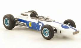 Triple9 Collection - Ferrari  - T9E1800500 : 1964 Ferrari 158 F1 Team NART #7 John Surtees GP Mexico World Champion *diecast with resin parts and vissable engine*, white/blue
