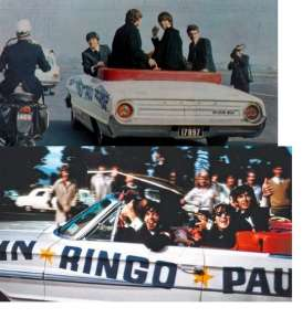 SunStar - Ford  - sun1425 : 1964 Ford Galaxie 500 open convertible. Beatles in Australia 1964.