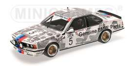 Minichamps - BMW  - mc155852505 : 1984 BMW 635CSI BMW Belgium Winner Spa 24h Ravaglia/Berger/Surer, white