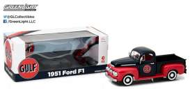 Ford  - F1 pick-up 1951 dark blue/red - 1:18 - GreenLight - gl12978 | Tom's Modelauto's