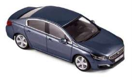 Norev - Peugeot  - nor475813 : 2014 Peugeot 508, bourrasque blue