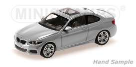 BMW  - 2013 silver - 1:43 - Minichamps - 410022020 - mc410022020 | Tom's Modelauto's