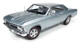 Chevrolet  - 1966 silver-blue - 1:18 - Auto World - AMM1090 | Tom's Modelauto's