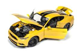 Ford  - Mustang GT 2016 yellow - 1:18 - Auto World - AW229 | Tom's Modelauto's