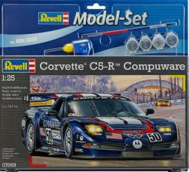 Revell - Germany - Chevrolet Corvette - revell67069 : Model set Chevrolet Corvette C5-R *Compuware* #50, plastic modelkit with glue, paint and pencil