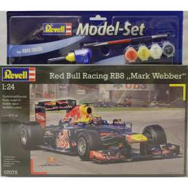 Revell - Germany - Red Bull Racing   - revell67075 : Model set Red Bull Racing RB8 *Mark Webber*, plastic modelkit with glue, paint and pencil