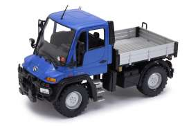 Unimog  - blue/grey - 1:24 - Welly - 22098b - welly22098b | Tom's Modelauto's