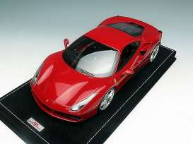 MR Collection Models - Ferrari  - MRFE015A : 1/18 Ferrari 488 GTB motorshow Geneva 2015, new rossa corsa metallic