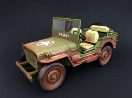 Jeep Willys - US Army muddy & green 1944 muddy & green - 1:18 - American Diorama - AD-77404A - AD77404A | Toms Modelautos