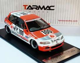 Honda  - 1993 white/orange - 1:18 - Tarmac - Tarmac01IM | Tom's Modelauto's