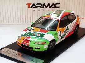 Tarmac - Honda  - Tarmac01JA : 1993 Honda Civic EG6 #14 JACCS Gr.A racing *Resin Series*
